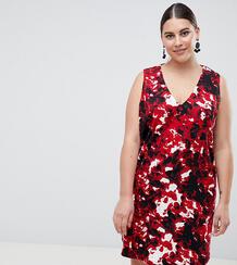 Свободное платье с V-образным вырезом AX Paris Plus - Мульти 1298139