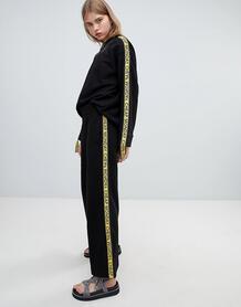 Широкие трикотажные брюки с логотипом Cheap Monday - Черный 1333582