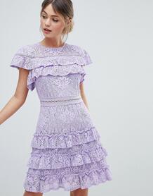 Кружевное платье Liquorish - Фиолетовый 1277818