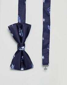 Галстук-бабочка с цветочным принтом Jack & Jones - Синий 1257008