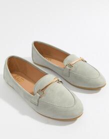 Серые туфли на плоской подошве с отделкой RAID Viera - Серый 1295390