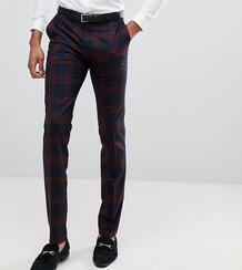 Супероблегающие брюки в бордовую клетку Twisted Tailor - Красный 1236418