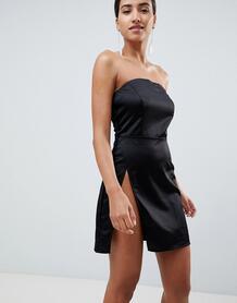 Платье мини бандо с разрезом до бедра In The Style Sarah Ashcroft 1324439