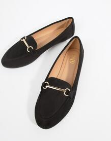 Черные туфли на плоской подошве RAID - Черный 1295389