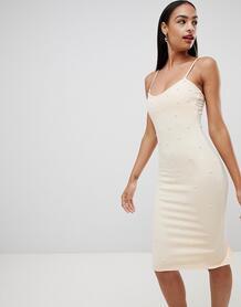 Платье миди Missguided - Розовый 1286069