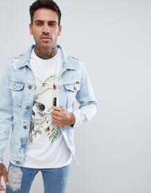 Голубая джинсовая куртка Pull&Bear - Синий 1340058