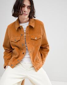 Вельветовая куртка горчичного цвета в стиле вестерн ASOS DESIGN 1218111