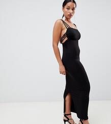 Платье макси с бретельками ASOS DESIGN Petite - Черный Asos Petite 1298834