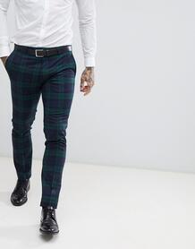 Облегающие брюки в клетку Twisted Tailor - Зеленый 1225964