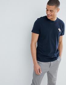 Темно-синяя футболка с круглым вырезом и логотипом Abercrombie & Fitch Abercrombie& Fitch 1298204
