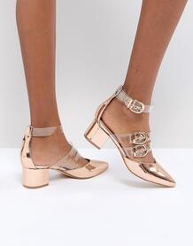 Золотисто-розовые туфли на каблуке RAID Carmel - Золотой 1240867
