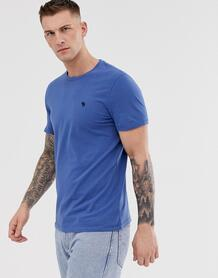 Темно-синяя футболка с круглым вырезом Abercrombie & Fitch Abercrombie& Fitch 1298191