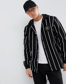 Черная спортивная куртка в полоску с капюшоном HUF - Черный 1295901