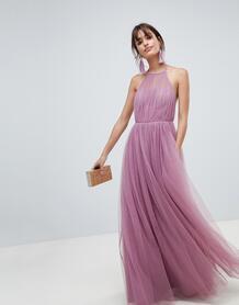 Платье макси из тюля ASOS DESIGN - Фиолетовый 1263461