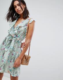 Платье с запахом и цветочным принтом Lavand - Мульти 1236995