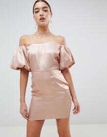 Платье с рукавами-фонариками Missguided - Золотой 1286177