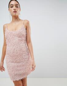 Облегающее платье с бахромой Missguided - Розовый 1286178