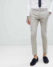 Светло-бежевые брюки супероблегающего кроя Twisted Tailor 1225928