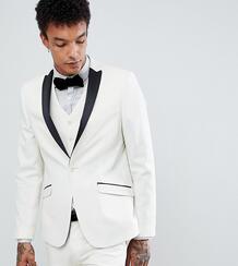 Атласный приталенный пиджак-смокинг Heart & Dagger - Белый 1238779