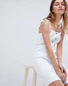 Джинсовое платье на пуговицах Jack Wills - Белый 1250532