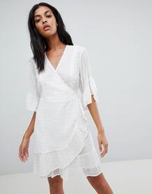 Платье мини с запахом AllSaints - Белый 1305388