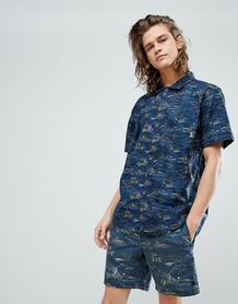 Рубашка с принтом Element - Темно-синий 1212501