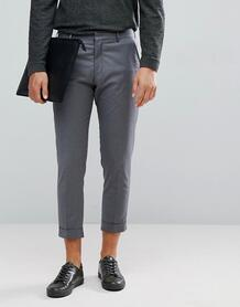 Серые укороченные брюки Selected Homme - Серый 1181843