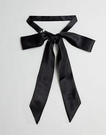 Черный сатиновый галстук-бабочка в стиле oversize ASOS DESIGN - Черный 1296545