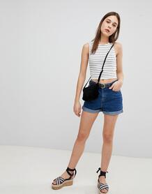 Джинсовые шорты в винтажном стиле Pimkie - Синий 1258480