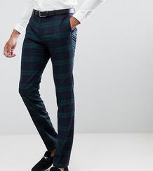 Облегающие брюки в зеленую клетку Twisted Tailor - Зеленый 1236421