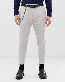 Суженные книзу серые брюки со стрелками Twisted Tailor - Серый 1226018