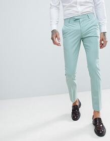 Светло-зеленые супероблегающие брюки Twisted Tailor Wedding - Зеленый 1225911
