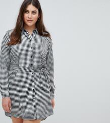 Платье-рубашка в клеточку AX Paris Plus - Мульти 1289917