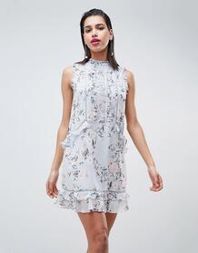 Свободное платье с кружевной отделкой Forever New - Мульти 1243435