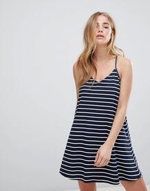 Свободное трикотажное платье в полоску Jack Wills - Темно-синий 1250530