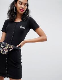 Облегающее платье мини на кнопках Missguided Barbie - Черный 1297938