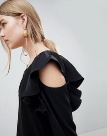 Блузка с вырезами на плечах Selected Kassia - Черный 1266222