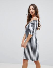 Платье в полоску с открытыми плечами Lavand - Мульти 1120542