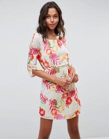 Платье с цветочным принтом и ремнем Lavand - Мульти 1120553
