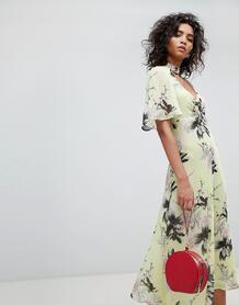 Чайное платье с цветочным принтом Ghost - Мульти 1301833