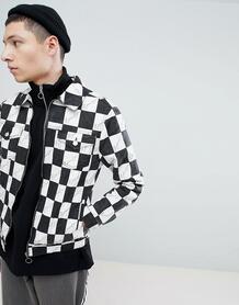 Куртка в клетку с логотипом Mennace - Черный 1269455