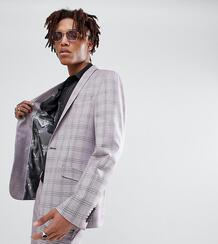 Облегающий пиджак в клетку Heart & Dagger - Розовый 1238753