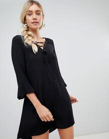 Свободное платье на шнуровке Lunik - Черный 1215782