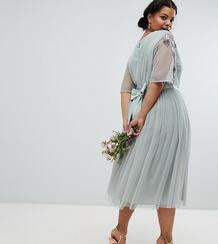 Платье миди из тюля Maya Plus - Зеленый 1265895