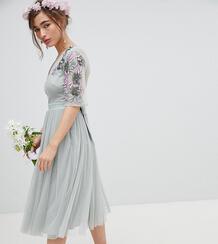 Платье миди из тюля Maya Petite - Зеленый 1265878