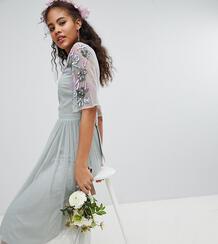 Платье миди из тюля Maya Tall - Зеленый 1265836