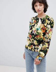 Блузка с цветочным узором Minimum - Черный 1245047