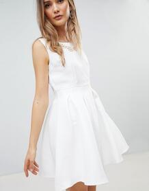 Структурированное короткое приталенное платье Zibi London - Белый 1279487