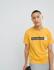 Желтая футболка с 92 логотипами Abercrombie & Fitch - Желтый Abercrombie& Fitch 1253806