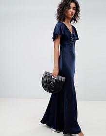 Платье макси с рукавами клеш Ghost - Синий 1298691